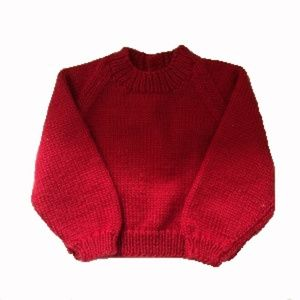 Handmade 100% wool baby knitted sweater